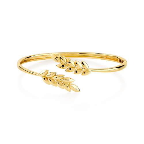Bracelet en métal doré.