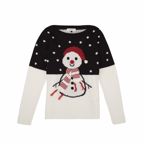 Cache Cache - Pull bonhomme de neige
