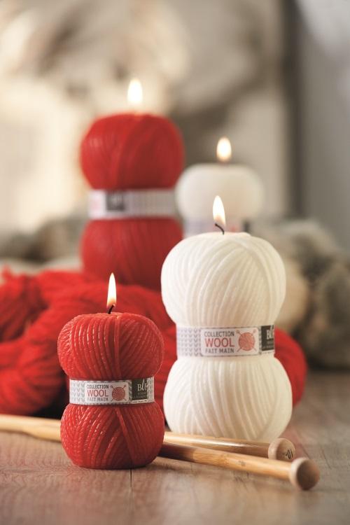 Bougies rouges et blanches de chez maison Française