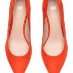 Escarpins en daim orange