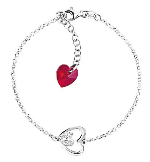 Bracelet en argent avec pampille coeur