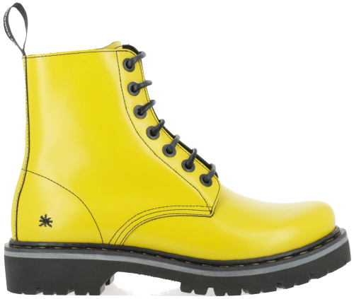 Bottines couleur jaune fluo